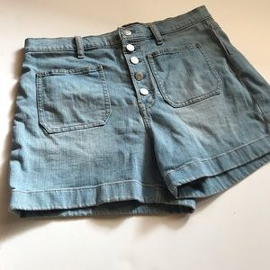 Gap high rise denim short buttons fly 30